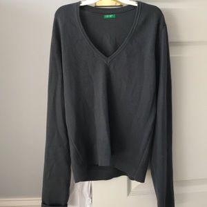 United colors of Benetton wool blue gray sweater